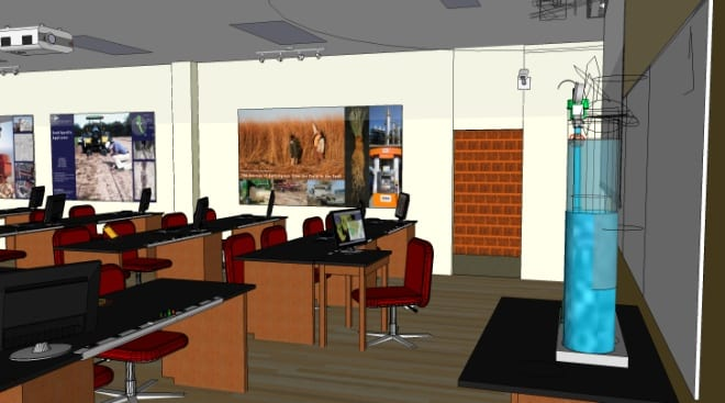 Illustration of state-of-the-art learning environment