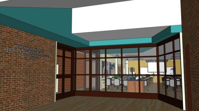 Proposed Entryway into the Learning Hub