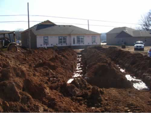 Septic system at a residence